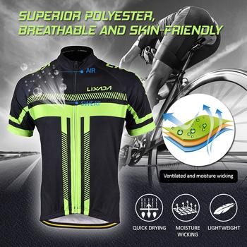 LIXADA MTB męskie krótki rękaw jazda na rowerze zestawy jersey 3D wyściełane krótkie spodnie na szelkach zestaw szybkoschnący krótki rękaw jazda na rowerze zestaw ubrań Bicicleta tanie i dobre opinie Poliester spandex Pasuje prawda na wymiar weź swój normalny rozmiar Spodenki na szelkach Cycling Jersey Short Sleeve Set