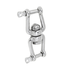 Marine Stainless Steel Anchor Chain Connector Swivel Jaw Double Shackle- M5 Swivel anchor chain connector for boat
