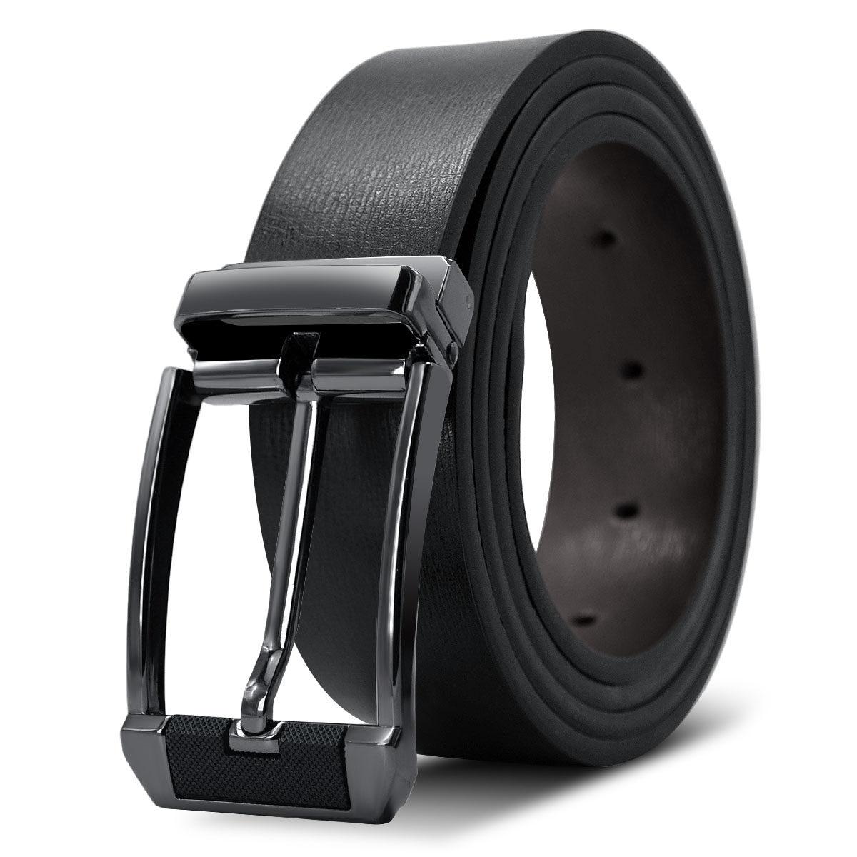 KURAN New Designer Belts Men High Quality Luxury Brand Leather Belt Pin Buckle Black Business Trouser Strap Cinturones Hombre