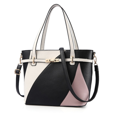 Women Leather Handbags Shoulder Casual Tote High Quality patchwork