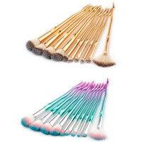 MSQ 10Pcs Makeup Brushes Tool Set Cosmetic Power Eye Shadow Foundation Blush Blending Beauty Make Up