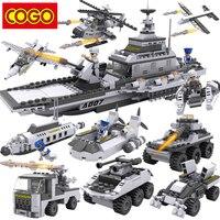 COGO 13007 Blocks Ship 8 in 1 Building Blocks Compatible Legoe City Plastic Educational Toys For Children