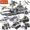 Cogo Aircraft Carrier Blocks Military Airplane Ship 8 In 1 Building Blocks 743 Pcs Plastic Blocks