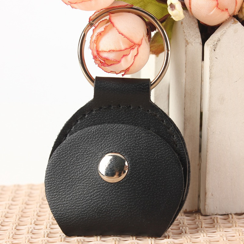 Hot Sale Black Guitar Picks Case Faux Leather Key Chain Style Guitar Bass Picks Holder Plectrums Case Bag Guitar Parts Accessory