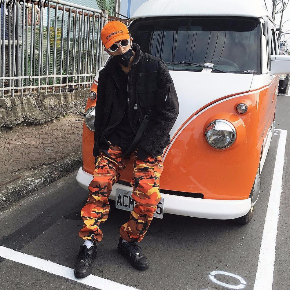 Camouflage Men's Cargo Pants Full Length 2018 Spring Multy Camo Hip Hop Pants Men Women Streetwear Toursers Men 7 Colors