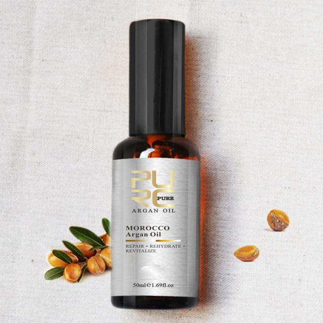 Aceite de Argan de Marruecos para la humedad daños Reparaciones pelo para el envío libre después de un tratamiento de queratina tratamiento para el cabello