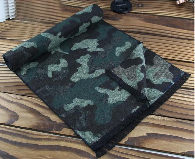 Nueva Engrosamiento Caliente Mens Bufandas Camuflaje Inglaterra Bufanda de Lujo de Imitación de la Cachemira Bufandas de Invierno Casual de Negocios de Corea Envuelve