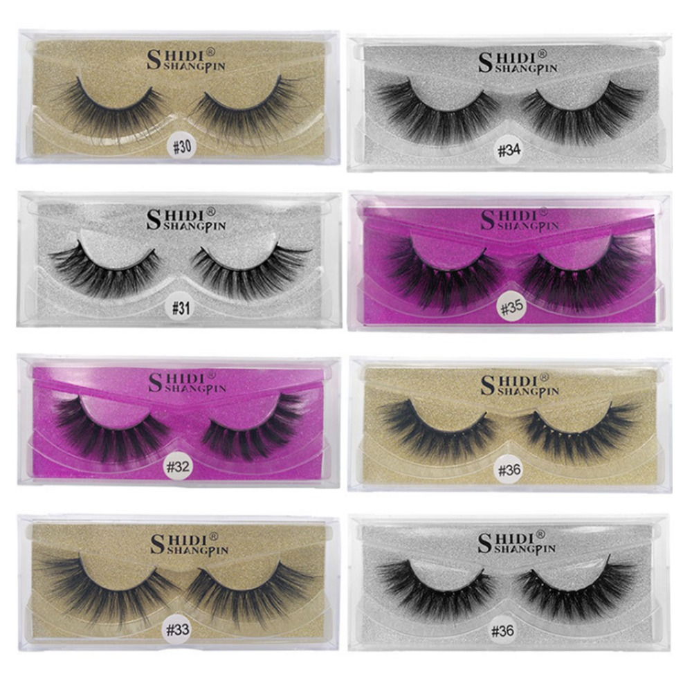 1pairs Faux Cils mink eyelashes natural long 3d eyelashes 3d mink lashes hand made makeup false lashes pink gold silver Boxs in False Eyelashes from Beauty Health