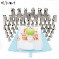 48pcs Set Russian Pastry Nozzles Fondant Icing Piping Tips Set Stainless Steel Kitchen Baking Cake Decorating