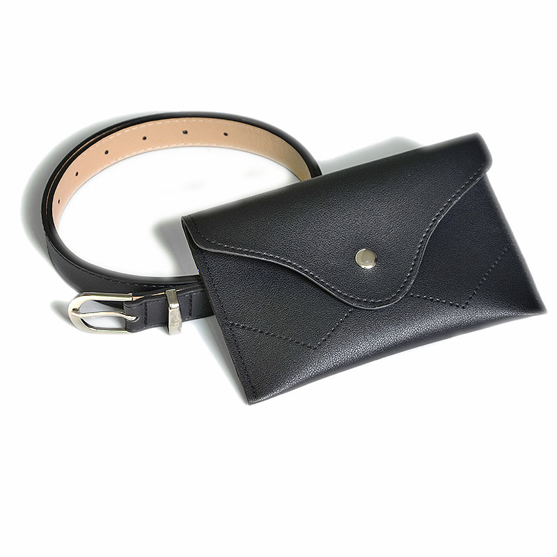 2019 Women Simple Soft PU Leather Waist Belt Pack Pure Color Casual Belts Bag Multifunctin Portable Chest Bag Women Fanny Pack in Women 39 s Belts from Apparel Accessories