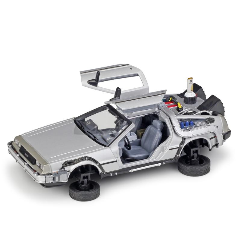 Welly 1:24 DMC-12 Delorean Mode mouche Machine à remonter le temps vers le futur 2 modèle de voiture moulée sous pression