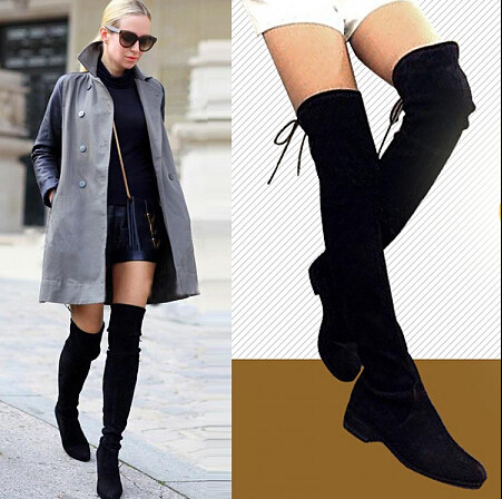 Online Shop 2015 New Design Women Thigh High Boots Ladies Black ...