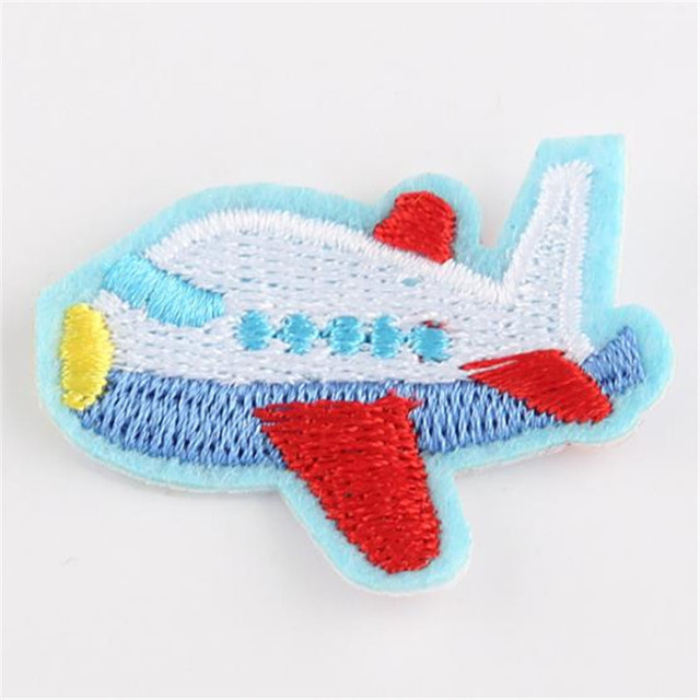 Girls clothes baby Badge embroidery patch car aircraft deal with it T shirt women iron on patches for clothing 3D stickers Badge