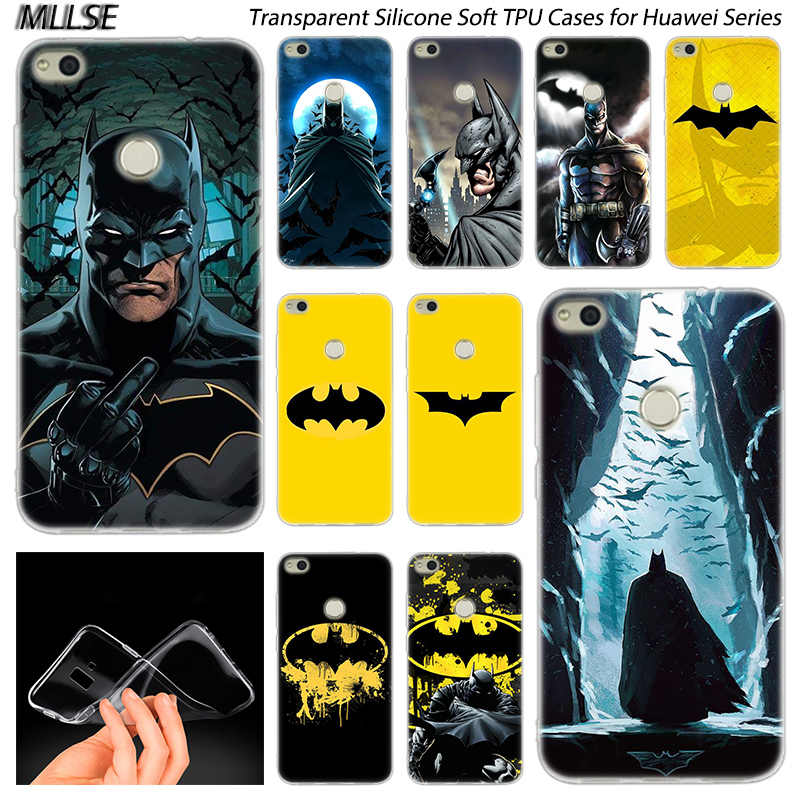 Hot Batman Soft Silicone Case for Huawei NOVA 3 3i 4 Honor 7A Pro  7S 6X 7X 8X 8 9 10 Lite Play View 20 Fashion Cover