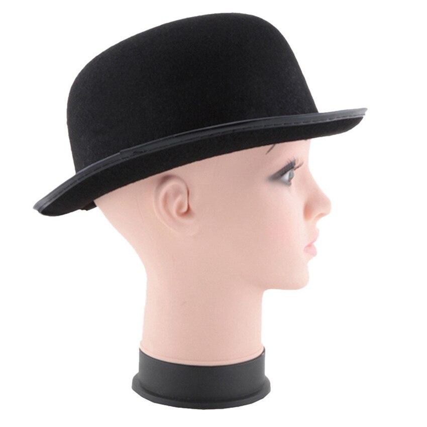 6e8b049978d Event party hats black halloween magician magic hat jazz hat hybrid fiber  pre curved visor men