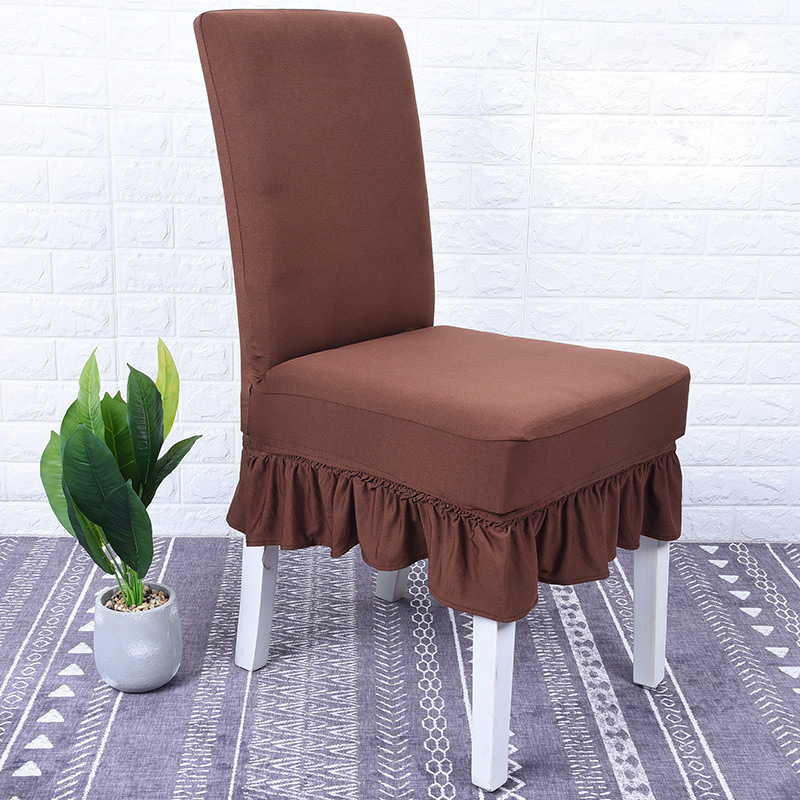 Dining Chair Covers Spandex Elastic Black White Wine Blue