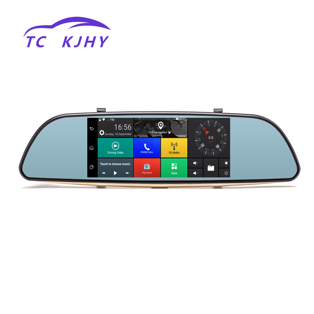 2018 Auto Full HD 1080P Video Recorder Camera GPS Rearview 7 Inch Dash Cam Car DVR 3G Touch Mirror Camera Mirror Registrar hot new relay nt73 2c 12 dc5v nt73 2c 12 dc5v nt73 2c nt732c12 nt73 dc5v 5vdc 5v dip5