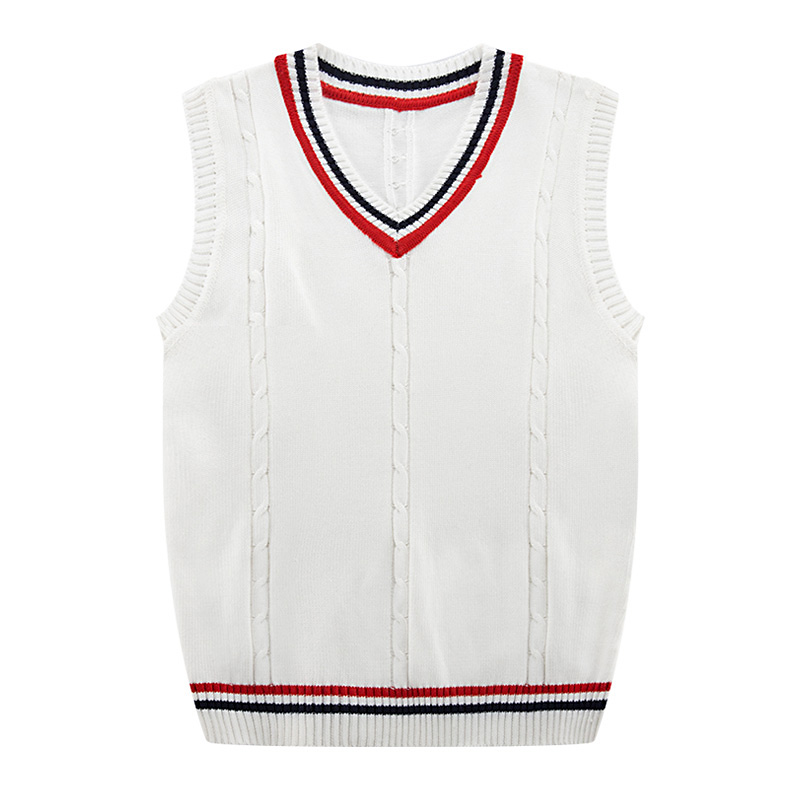 Autumn Winter 2019 New Men's Fashion Fine Pure Color Business Leisure Vest Sleeveless Sweater Male Casual Preppy Style Sweater