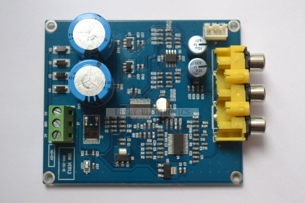 CS8416 + CS4398 24BIT/192K Coaxial DAC Decoder Board free shipping cs4398 decoder board bluetooth cs4398 lme49720 usb decoder board i2s transmission