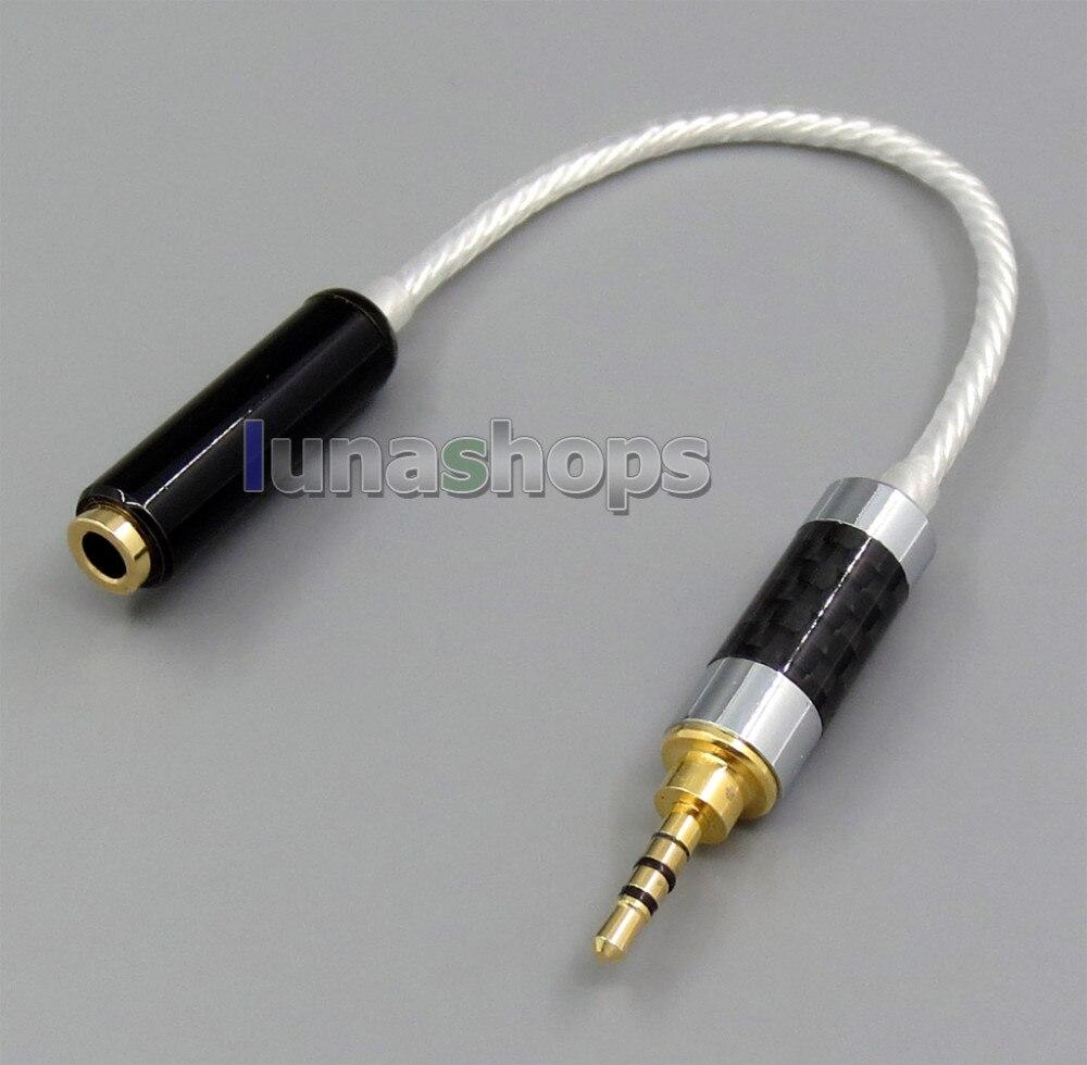6211c01bedd 4PIN 2.5 мм мужской серебряный Гррп AKR03 Layla Энджи наушники к 4PIN 3.5  мм re-zero сбалансированный Hifiman HM901 HM802 кабель наушников LN05331