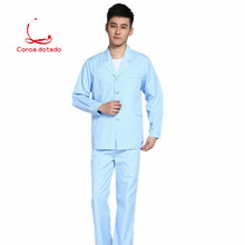 White gown for male doctors, split suit nurses, long sleeve dental uniform dentists