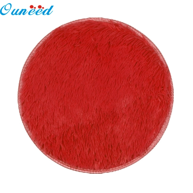 Ouneed Happy Home Floor Rug Round Thickened Circular Carpet Mats Dining Room Bedroom Carpet Floor Mat 1PC