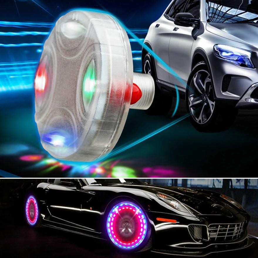 Wheel Light Solar Power Car-styling Tire Valve Caps Auto Parts Wheels Tires