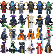 12 Bags 24 pcs Compatible Legoings Ninjago figures dragon lloyd zane silah pyth model building block minifigs toy Christmas Gift(China)