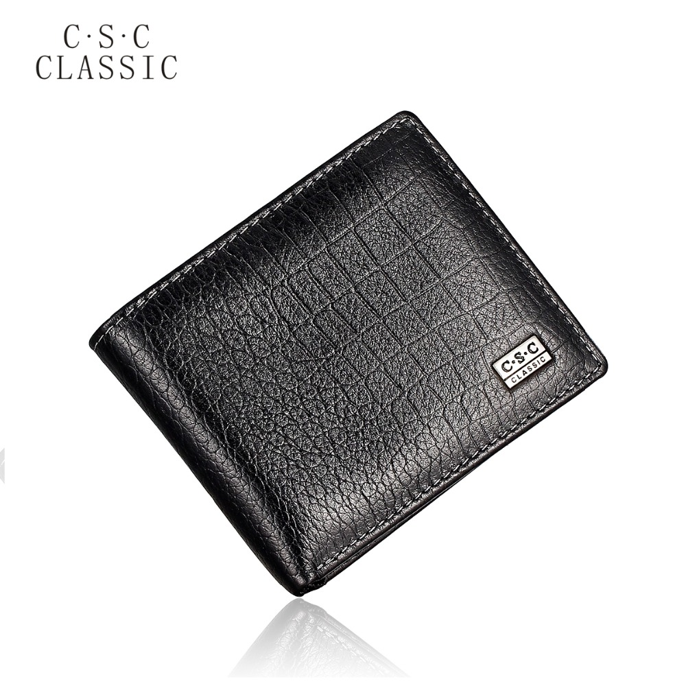 Men's Black Bifold Transverse Genuine Cowhide Real Leather Checkbook Wallet Purse Credit Bank ID Card Slot Wholesale Free Ship zelda wallet bifold link faux leather dft 1857