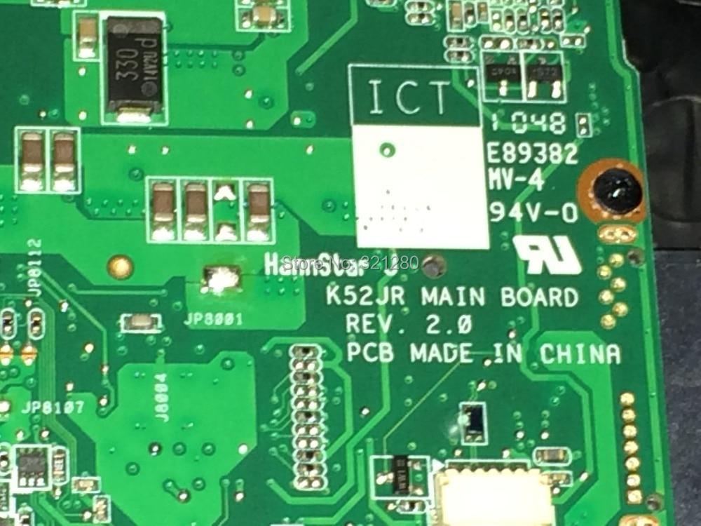 ФОТО FREE SHIPPING   K52JR REV: 2.0 New laptop motherboard COMPATIBLE  For Asus K52JQ J52JR K52J A52J NOTEBOOK PC