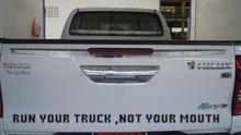1PC free shipping Run Your Truck Funny Vinyl For pickup Bumper Sticker Decal JDM