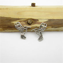 100 PCS (23*19mm) de Prata Antigo Pássaro Charme liga pingente fit Europeu Pulseiras Colar de Metal DIY Fazer jóias