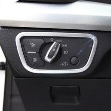 Lsrtw2017 Abs Car Headlight Control Switch Frame Trims for Audi A4 A5 Q5 Q7 Interior Accessories Sticker