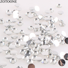 ZOTOONE Mix Size 1000PCS lot Rhinestones 3-5MM White Crystals and AB Stones  Non 1234872ccabd