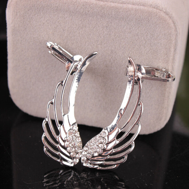 Cheap Clip on Angle Wing Earrings