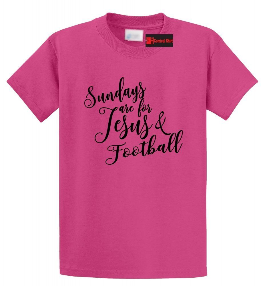 Sundays Are For Jesus amp Football Funny T Shirt Religious Country Tee S 5XL Free shipping Tops t shirt Fashion Classic in T Shirts from Men 39 s Clothing