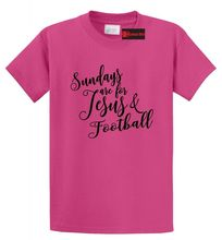 Sundays Are For Jesus & Football Funny T Shirt Religious Country Tee S-5XL Free shipping Tops t-shirt Fashion Classic