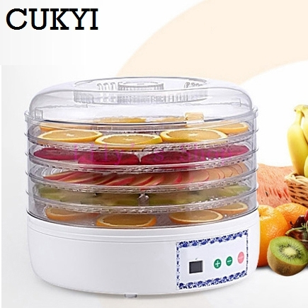 Dried Food Dehydrator Fruit Vegetables Herb Snacks Dryer Meat Drying Machine Fruit dehydration machine 5 trays layers EU US plug 5 trays 245w food fruit dehydrator drying fruit machine home food dryer dehydrator with timing function and temperature control