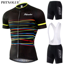 Phtxolue 2017 Summer Short Sleeve Cycling Set Breathable Mountain Bicycle Bike Clothing Wear For Men