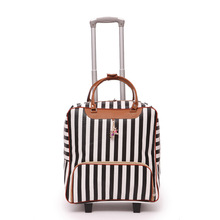 New womens travel bag suitcase, suitcase D water cloth Oxford rolling trolley case, PU leather - portable trailer box