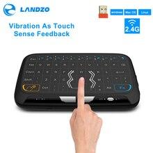NUOVO Mini H18 Tastiera Wireless 2.4G Tastiera Portatile Con Touchpad Del Mouse per Windows Android/Google/Smart TV Linux Windows Mac