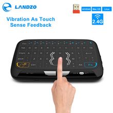 Nowa klawiatura bezprzewodowa Mini H18 2.4G przenośna klawiatura z touchpadem dla Windows Android/Google/Smart TV Linux Windows Mac