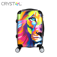 CRYSTL 2018 new arrival 20inch luggage suitcase made of ABS+PC with spinner wheels and hardside for unisex,strong and safe