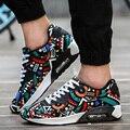 Novos Homens Sapatos Casuais Sapatos Da Moda Ar MeshTrainers para Homens Malha Apartamentos Zapatillas Hombre Andando Esporte Jogging Ao Ar Livre Masculino