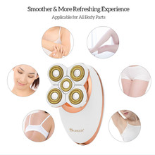 3 In 1 Mini Size Women Electric Hair Removal Rechargeable Epilator with 5 Cutting Razor Blades Painless Electric Shaver