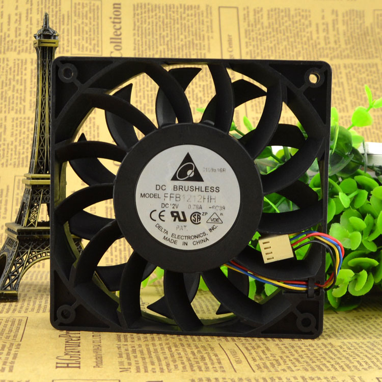 Free Delivery. FFB1212HH cooling fan 12 PWM 12025 cm 12 v 0.78 A 4 line free delivery 9025 9 cm 12 v 0 7 a computer cpu fan da09025t12u chassis big wind pwm four needle