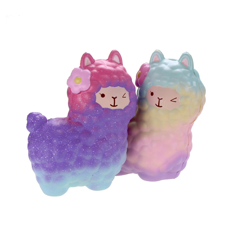 Jumbo Alpaca Slow Rising Original Packaging Colorful Collection Gift Decoration Toy Anti stress Novelty Gags Stress Relief 17cm