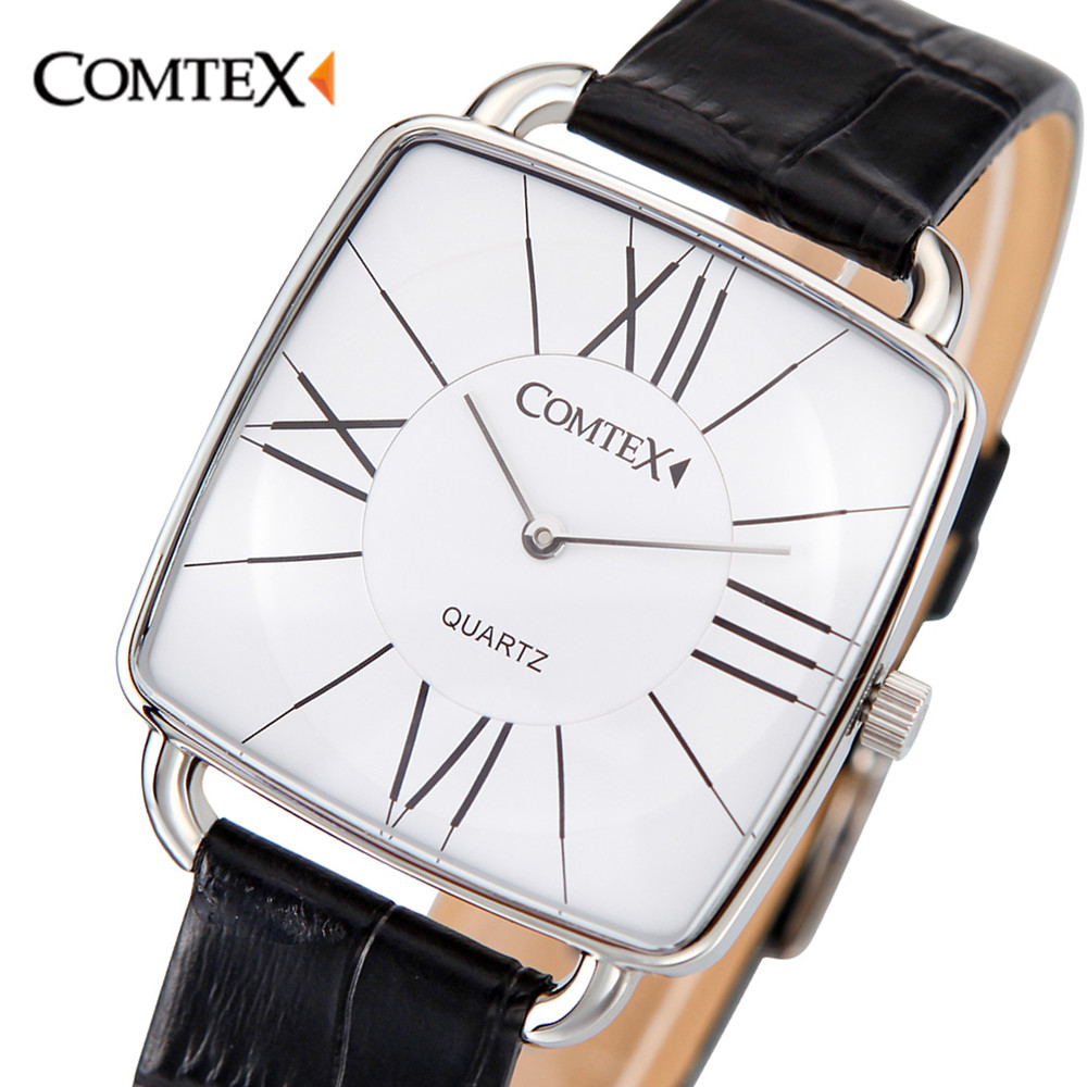 Comtex Fashion Business Male Female Watch Women Casual Luxury Brand Quartz Watch Ladies Watches Waterproof Leather Watch S6365L xinge brand fashion women quartz wrsit watches clock leather strap business watch ladies silver luxury female sport womens watch