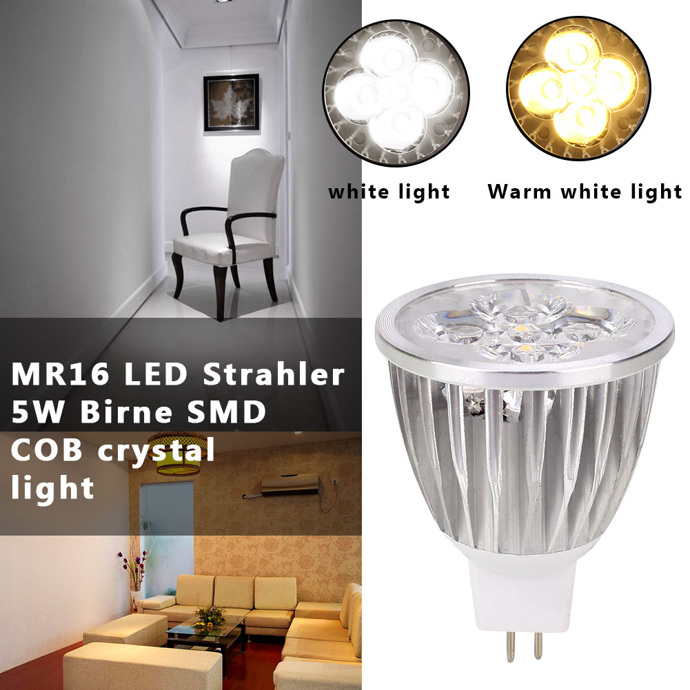 Durable Bright LED Bulb Spotlight Bulb 120-300lm 6.2*4.6*4.6cm MR16 Party Supply Indoor Outdoor Lighting Fixture