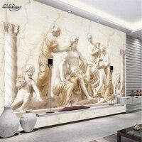 Custom Photo Wallpaper Roman Relief European Classical Art Murals Background Large Mural 3d Wall Murals Wallpaper